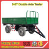 Double Axles Rear Dump Farm Trailer