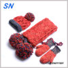 Acrylic Children Knitted Stock Promotion Hat Gloves Scarf