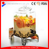High Quality Square Ginseng Glass Jar with Glass Top