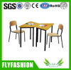 Metal Frame Wood Student Desk and Chair Classroom Furniture (SF-102S)