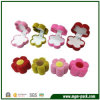 Colorful Flocking Printing Flower Shape Jewelry Gift Box