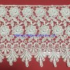 Embroidered Chemical Allover Lace Fabric, White Guipure Lace, Rendas Guipir Largo