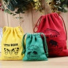 Custom High Quality Cotton Canvas Drawstring Laundry Bag