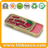 Slider Small Metal Cosmetic Box Lip Balm Golden Sliding Tin