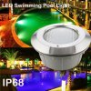 Waterproof IP68 Embedded Type LED Pool Light with Different Colors
