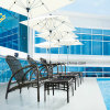 New Design Top Quality PE Rattan Outdoor Furniture Poolside Sunbed with Competitive Price