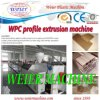 PP PE Wood Plastic (WPC) Profile Production Line From 15 Years Factory