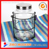 High Capacity Clear Water/Wine/Beverage/Juice Glass Dispenser&Large Storage Jar