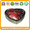 Heart Chocolate Tin Box for Food Metal Can Packaging
