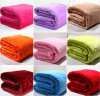 Embroidery Flannel Fleece Blanket with Solid Color (ES2091821AMA)