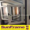 White Colour Aluminium Casement Window System