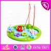 2015 Magnetic 3D Kids Toy Wooden Fishing Toy, Children Wooden Magnetic Fishing Toys, Wooden Fishing Game Intelligence Toy W01A056