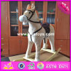 2017 Wholesale Horse Sound Wooden Rocking Horse Nursery, New Fashion Wooden Rocking Horse Nursery W16D093