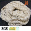 100% Acrylic Fashion Beige Warp Knitted Neck Scarf