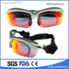Wrap Around Back Padded Sports Mirrored Lens Goggles with Strap