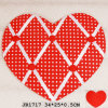 Chic Heart-Shaped Fabric Memo Board for Kids