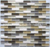 Strip Stone Mix Glass Mosaic Wall Tile (HGM261)