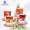 Christmas Gift Creative Decal Design Glass Tea Coffee Cup Set