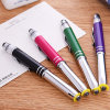 Wholesale New Three-in-One Multi-Function Crystal Metal Pen