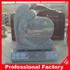 Grey Granite Top Carving Angel Sculpture Memorials Headstone