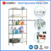 5 Tiers Adjustable Metal Bathroom Corner Rack for Home