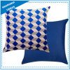 Indigo Diamond Shape Printed Polyester Throw Pillow