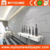Decorative White 3D PVC Wall Panel Bamboo Wallpaper