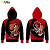 Custom Sublimation Plain 100% Polyester Mens Zip Hoody Wholesale Sweat Suits