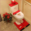 New Hot Sale Santa Claus Toilet Set Three-Piece Christmas Toilet Set Bathroom Decoration Christmas Ornaments