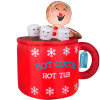 Fabric Inflatable Christmas Cup Gift Decoration Display