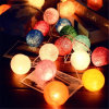 Cotton Ball House Decoration Christmas Ornament LED Light