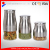 Stainless Steel Glass Cookie Jar Food Jar Glass with Lid