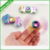 LED Light Spinner Toy Fidget Brass Hand Tri-Spinner