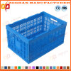 Foldable Plastic Vegetable Storage Container Fruit Logistics Turnover Basket (Zhtb13)