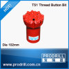 Top Hammer Thread Drill Bit T51-102mm, 16buttons, Regular