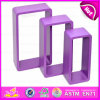 2015 Cheap Free Floating Wooden Toy Rack, Colorful Good Wooden Wall Rack Toy, Square 3 Sets Wooden Rack Toy for Book & CD W08c107c