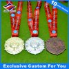 Gold Silver Bronze Irregular Shape Custom Metal Medal with Ribbon