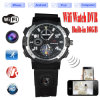 Buit-in 16GB HD 720p WiFi P2p IP Watch Camera Mini Hidden Watch Cam