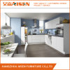 2018 Custom Made L Shape Fixed White High Gloss Kitchen Cabinet