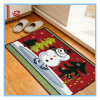 Custom Christmas Series Cartoon Printed Door Kitchen Bedroom Living Room Bathroom Bibulous Non-Slip Mat