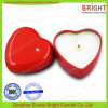 Heart Shape Tin Candle with 100% Natural Soy Wax