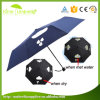 High Quality Windproof Black Metal for 3 Fold Umbrella