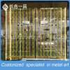 8K Mirror Golden Stainles Steel Hanging Wine Cabinet for Bar