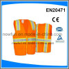 Orange High Visibility Vest Pms Colour Fabric Can Be Customized