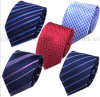 OEM Jacquard Striped Necktie Polyster Neck Tie for Business Suit
