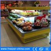 Commercial Fridge Showcase, Open Display Refrigerator for Supermarkets