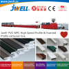 Jwell- PVC Plastic High Speed Profile and Foamed Extrusion Line Making Machine Machinery Used in The Building Industry, Home and Office Decoration