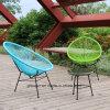 Metal PE Garden Wicker Set Rattan Beach Chair