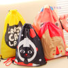 Christmas Cloth Linen Fashion Promotional Felt Polyester PVC Waterproof Drawstring Bag