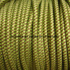Green with Brown 3 -Core Round Fabric Wire